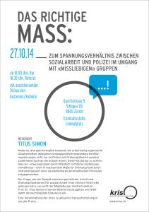 KRISO Veranstaltung: AG Jugendarbeit